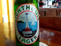 Lighthouse lager - a light and refreshing Belizean beer