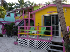 A splash of color; Caye Caulker