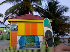 Sport fishing hut; Caye Caulker
