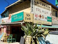 La Cubana surf & turf shack; Caye Caulker
