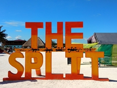 "Hanging out at ""The Split"" - when Caye Caulker was split into two by Hurricane Hattie in 1961"