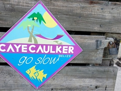 """Go Slow"" - Caye Caulker's official motto"