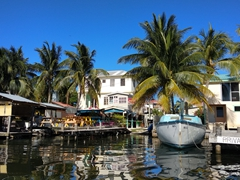 Caye Caulker's private jetties
