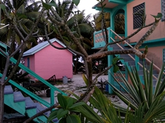 Colorful beach shacks