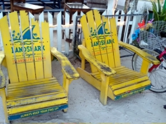 Landshark lager beach chairs