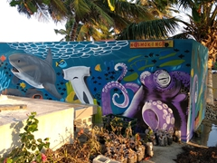 Painted mural near the Lazy Lizard