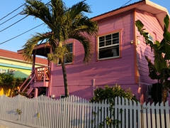 We will miss the bright, colorful buildings of Caye Caulker!
