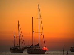 Beautiful sunsets every night on Caye Caulker