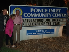 "Celebrating Joe DiCarlo's ""Citizen of the Year"" award; Ponce Inlet"