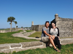 Brandy showing us around St Augustine's Castillo de San Marcos, the oldest fort in the US