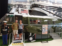 Standing in VH-3 Marine One (a modified Sikorsky H-3 Sea King antisubmarine helicopter that flew Presidents Nixon and Ford); Pensacola