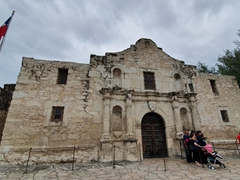The Alamo - we were shocked at how compact this fortress is!