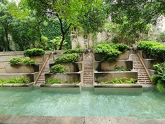 Pretty garden on San Antonio's river walk