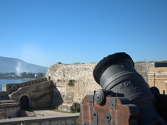 Canon at the base of the Old Fortress