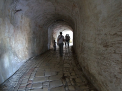 Walking through a tunnel; Old Fortress