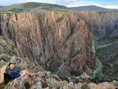 Becky admiring the scenery at Black Canyon of the Gunnison National Park