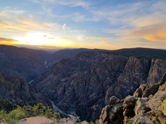 Sunset over Black Canyon of the Gunnison