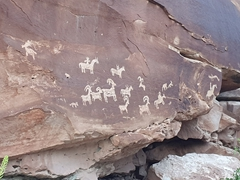 Ute Indian petroglyphs; Arches National Park