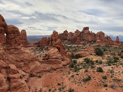 View of Arches National Park from the south window