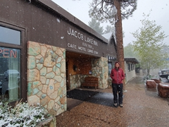 Stopping at Jacob Lake Inn, world famous for its cookies