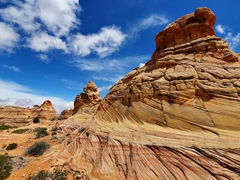 By the time we reached Coyote Buttes South, the weather had cleared up