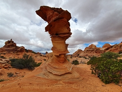 Rock formation known as the Hogwarts sorting hat; Coyote Buttes South