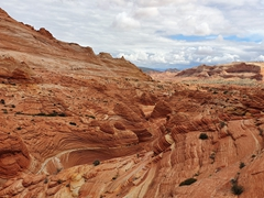 Epic canyon view as we hike deeper into the Vermillion Cliffs National Monument