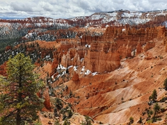 Bryce Canyon on a snowy day