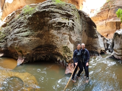 Panoramic photo at the subway; Zion National Park