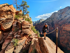 Angel's landing - not for those with a fear of heights!