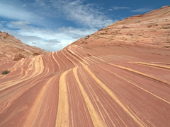 Hiking down the psychedelic wave; Coyote Buttes North