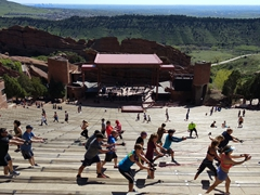 Morning workout club; Red Rocks