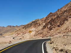 Winding roads in Death Valley
