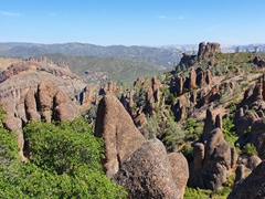 Unique landscape of Pinnacles National Park