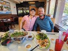 David and Robby at Lau Hai San restaurant; San Jose