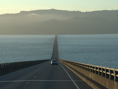 Crossing the Astoria Megler bridge linking Oregon to Washington