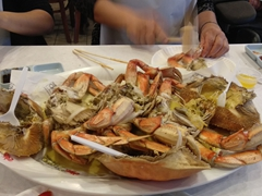 Steamed crab for dinner; Redondo Beach