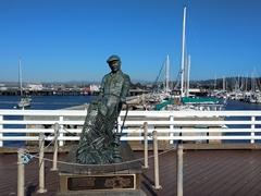 Fisherman statue; Monterey