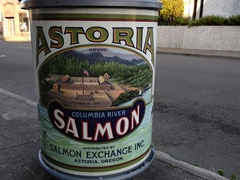 Columbia River Salmon poster in Astoria