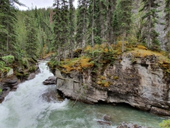 "Maligne Canyon, ""the deepest canyon in the Rockies"""