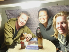 And then there were 5! Lars joins our happy group on a train from Vancouver