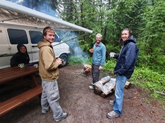 Waiting for the rain to end; Pocahontas Campground