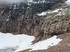 Mount Edith Cavell, named after an English nurse executed by the Germans for helping Allied soldiers escape