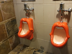 Urinals at Whistler Inn; Jasper