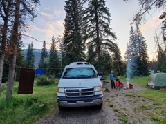 Our lovely Wapiti campsite