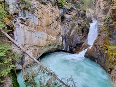 Lower falls' pool; Johnson Canyon