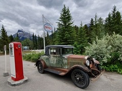 Historic gas pump; Johnson Canyon