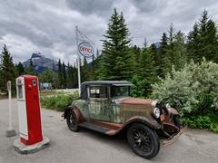 Historic gas pump; Johnson Canyon