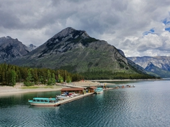 Lake Minnewanka hides an underwater ghost town which is perfectly preserved due to its glacial water