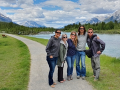 Walking along Canmore's Friendship Trail